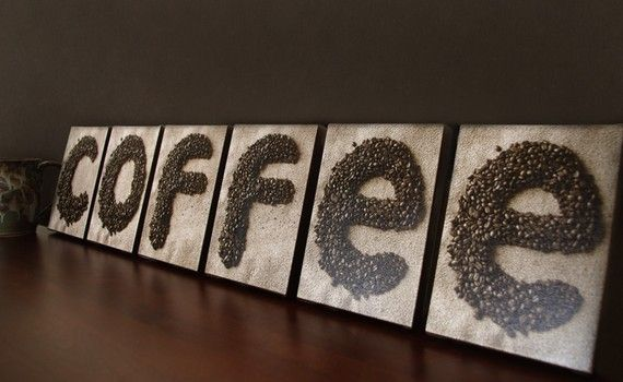 Coffee Sign On 5x7 Canvas Plaques Coffee Beans Coffee Shop Decor Kitchen Wall Sign Wall Decor Coffee Shop Decor Coffee Kitchen Coffee Theme Kitchen