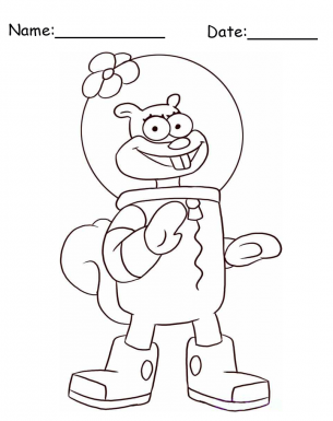 Give a big like for Sandy Cheeks SpongeBob Printable Coloring Pages ...