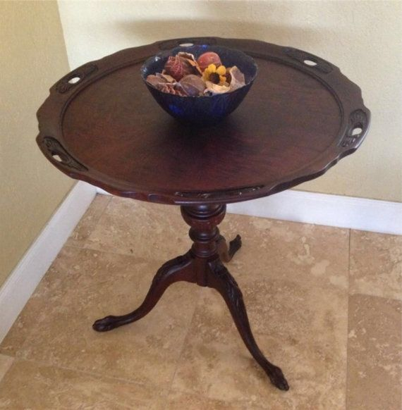 Mersman Pie Crust Top Parlor Table Mahogany By