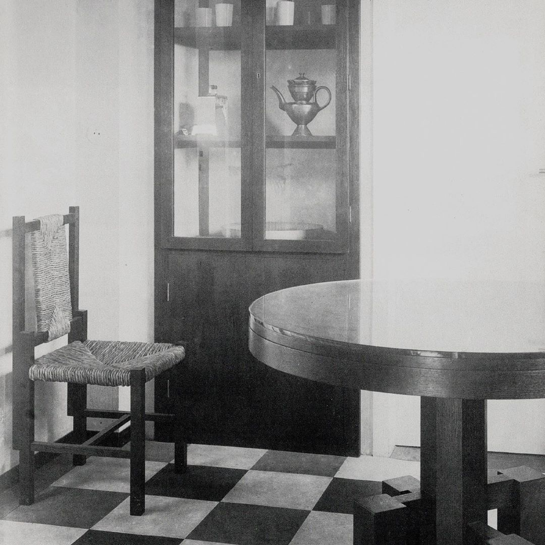 "1 9 3 4 on Instagram ""Oak and rush chair, Erich Dieckmann"