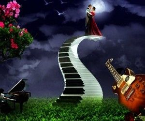 Love Wallpaper With Guitar : piano wall art Art Love, Music, Keyboard, Piano, Guitar ...