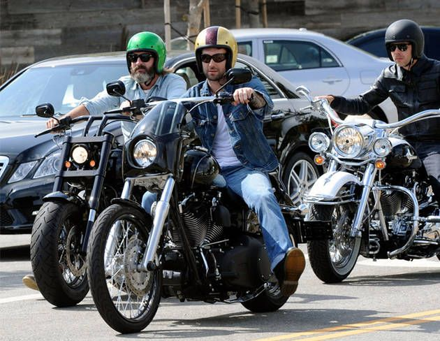 Adam Levine Rides His Motorcycle On July 4 2010 With Images