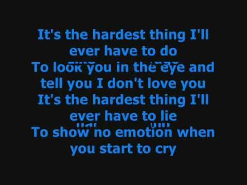 The Hardest Thing - 98 Degrees Lyrics (+playlist) | lyrics