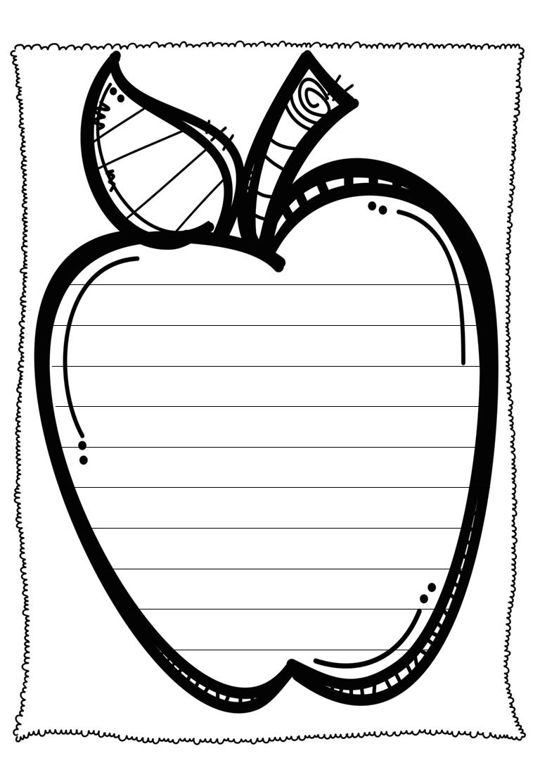 apple writing paper