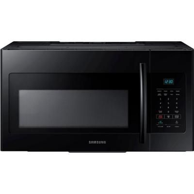 Samsung 30 In W 1 6 Cu Ft Over The Range Microwave In Black Me16h702seb Over The Range Microwaves Range Microwave Microwave