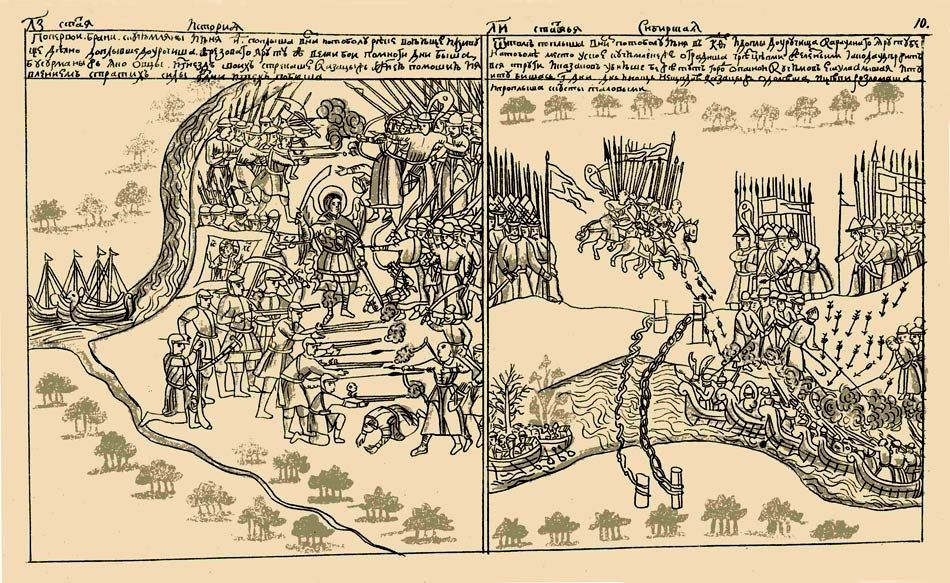 www.school.edu.ru :: Поход Ермака в Сибирь. 1580—1585. Бои ...