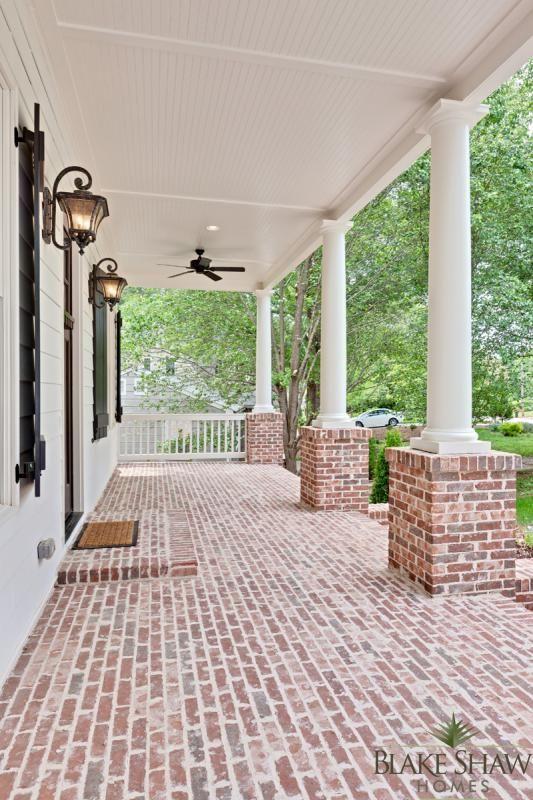 Porch Designs · Ashford Park Custom Home | Blake Shaw Homes | Atlanta,  Athens, Custom Homes And · Brick ColumnsFront ...