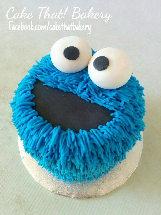 Cookie Monster Smash Cake Cakes And Goodies Pinterest