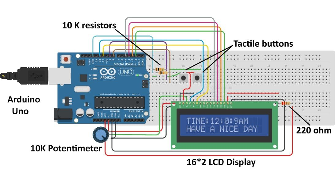 Simple Arduino Digital Clock Without RTC - Arduino Project Hub