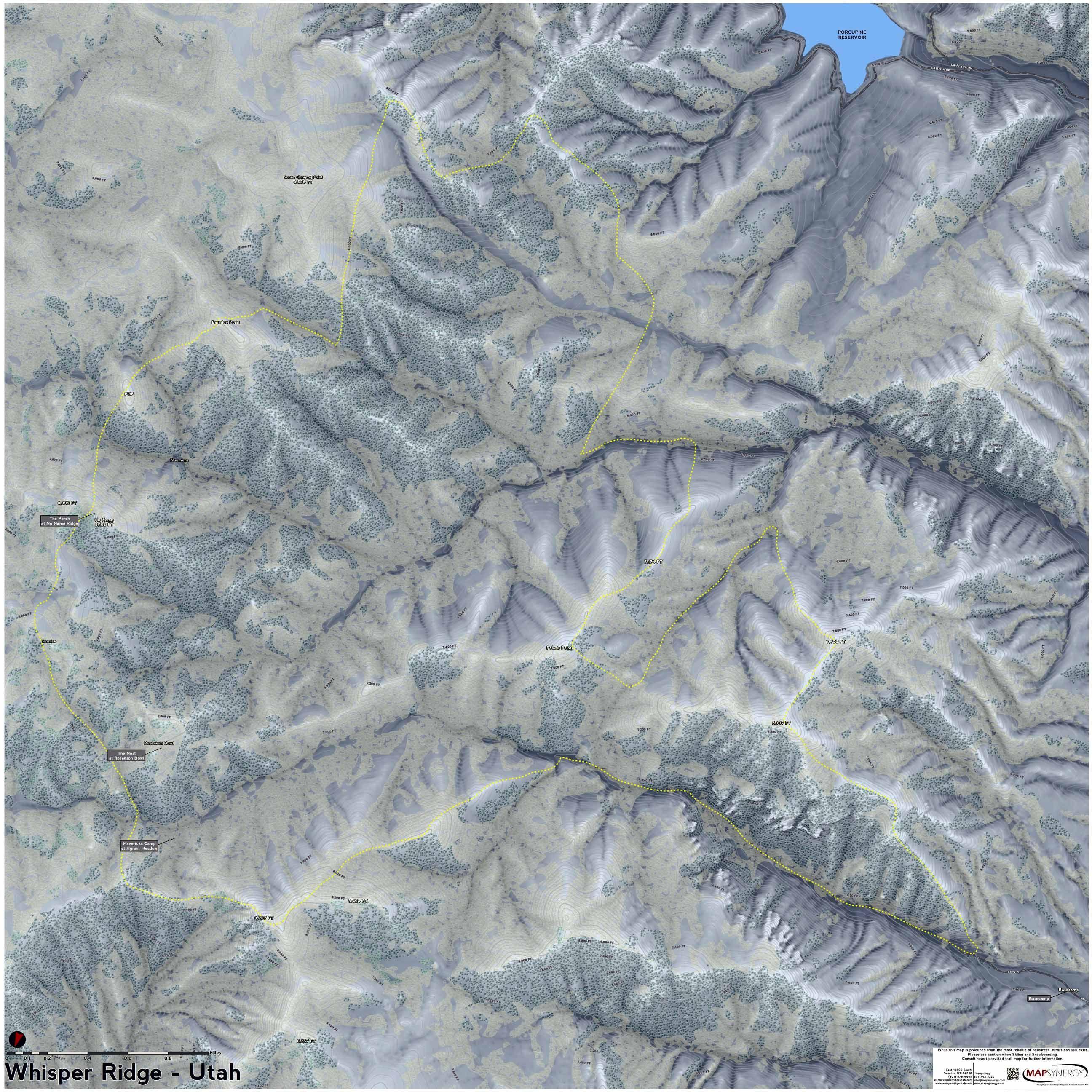 Worksheet. Whisper Ridge Cat Skiing ski map  Utah Ski Resort Maps