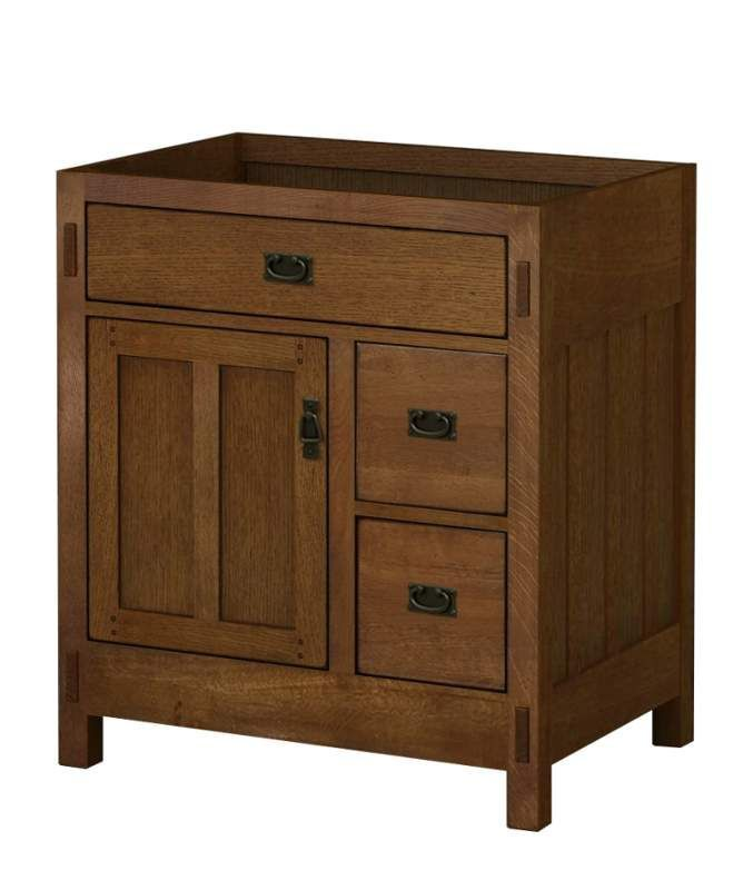Sagehill Designs AC3021DN American Craftsman 30 Oak Vanity Cabinet Only Rustic Fixture Single