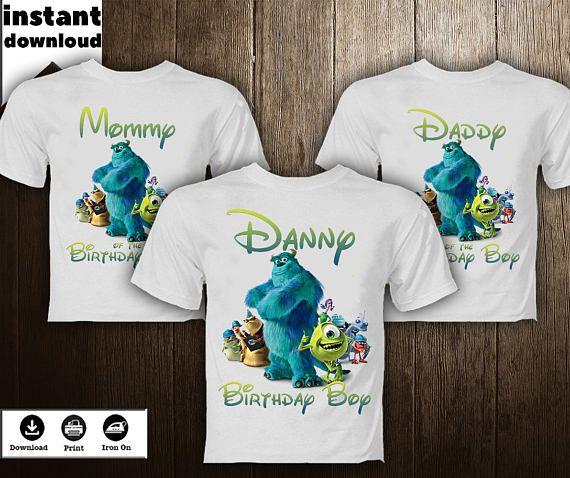 bcf1ca8f monsters Inc. Shirt Transfer DIY Image Family Birthday Boy monsters Inc.  Disney T-Shirt Printab