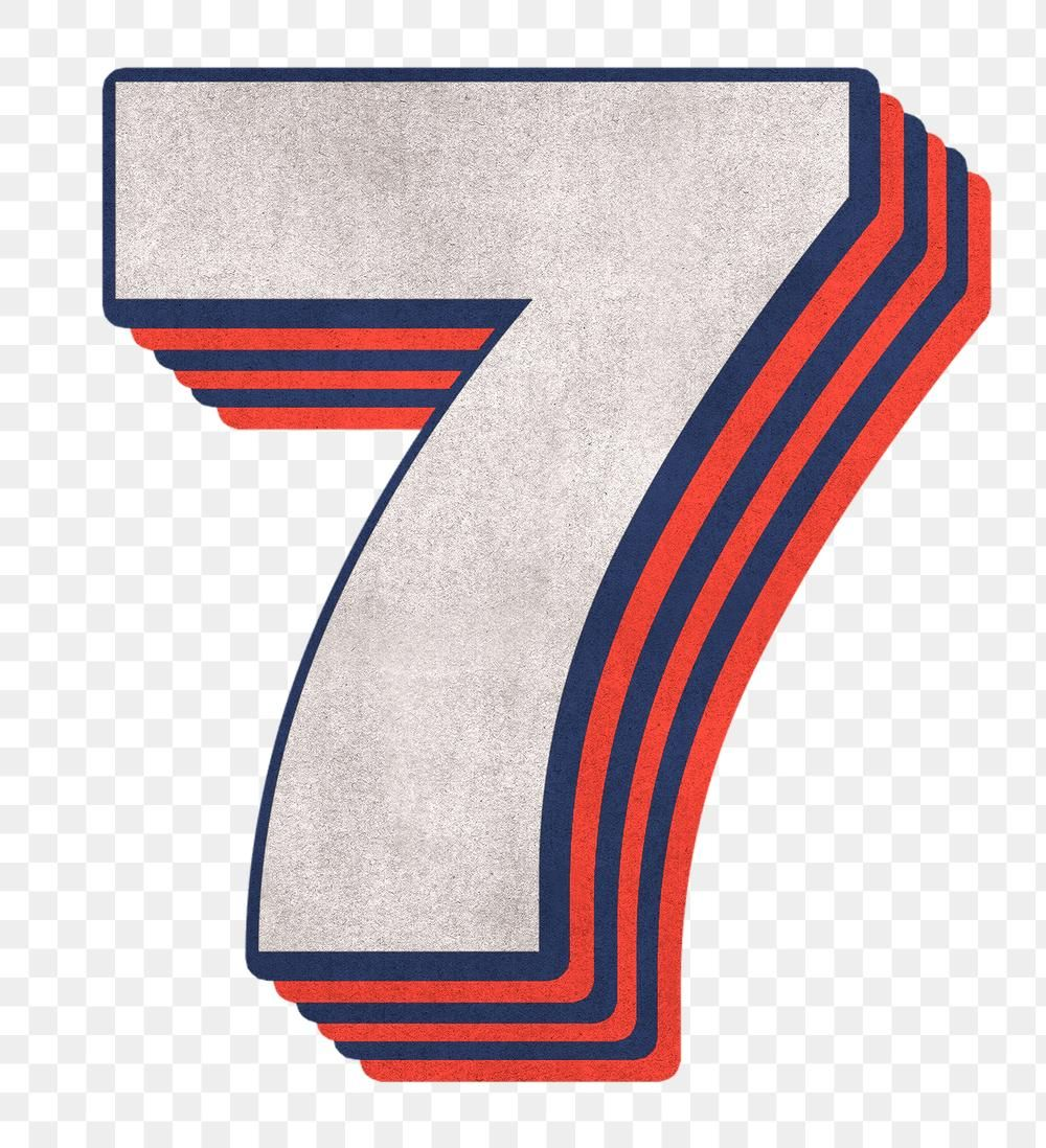 Number 7 Layered Text Effect Png Font Free Image By Rawpixel Com Cuz Text Effects Free Illustrations Png