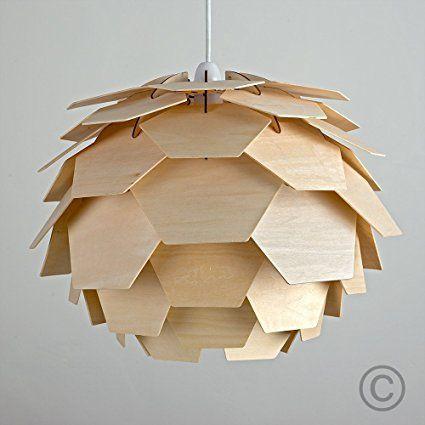 modern designer lighting. Modern Designer Style Layered Wood Artichoke Ceiling Pendant Light Shade: Amazon.co.uk Lighting T