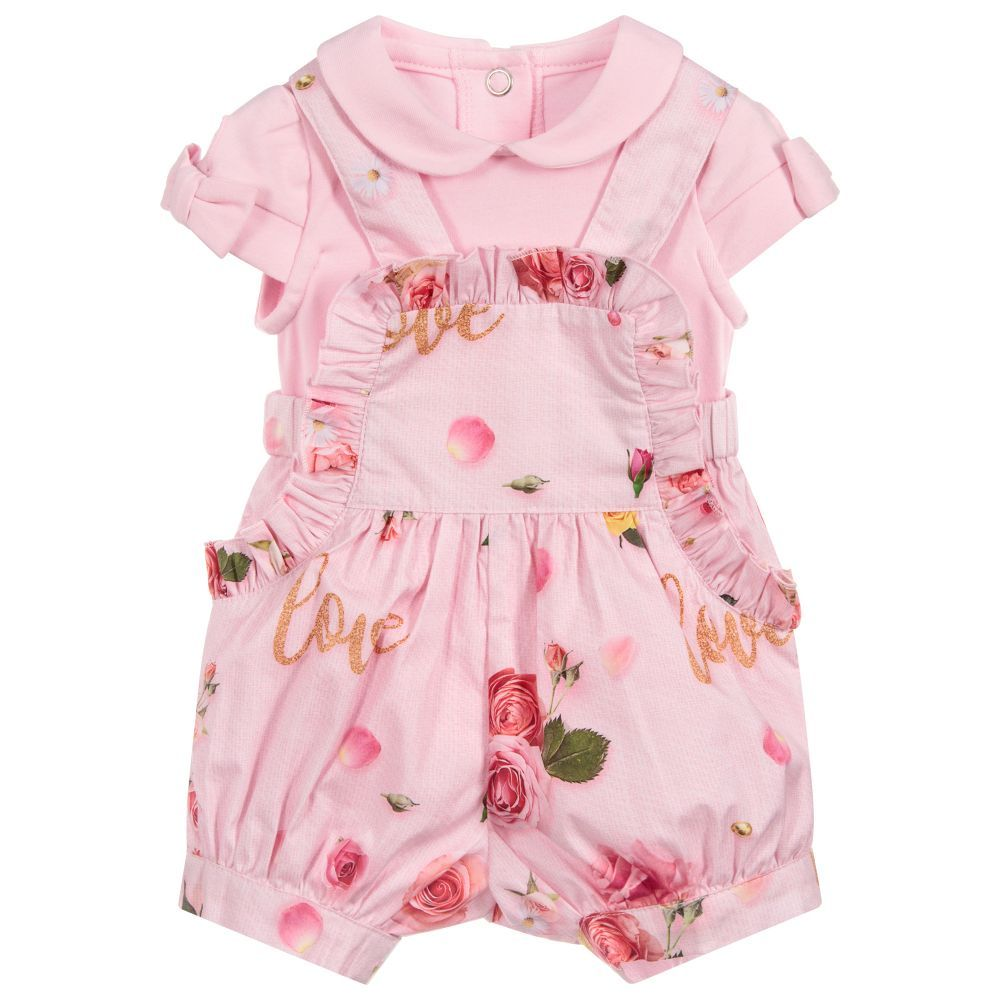 06792dd78 Baby Girls Pink Shorts Set