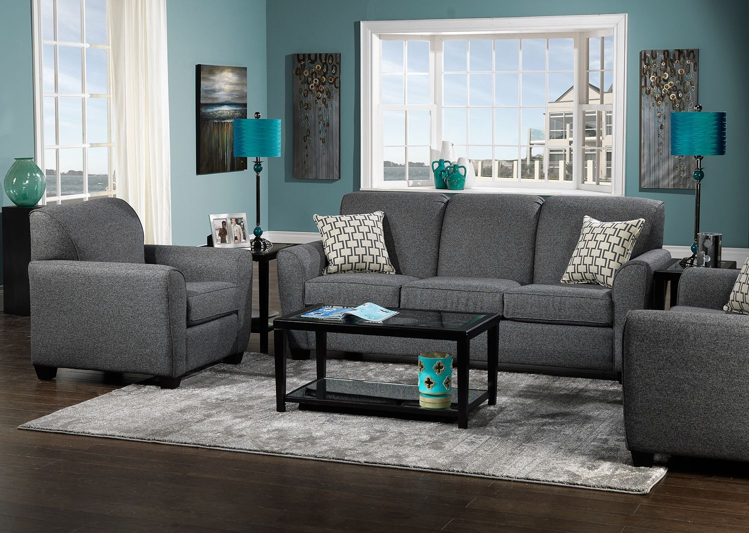 Ashby upholstery collection leon 39 s my couch is this - Grey and blue living room furniture ...