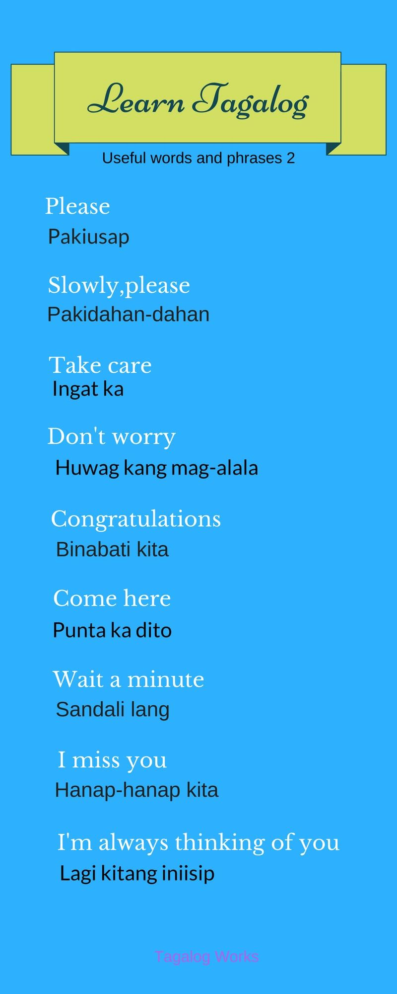 Pin By Belle Adler On Foreign Language Pinterest Tagalog
