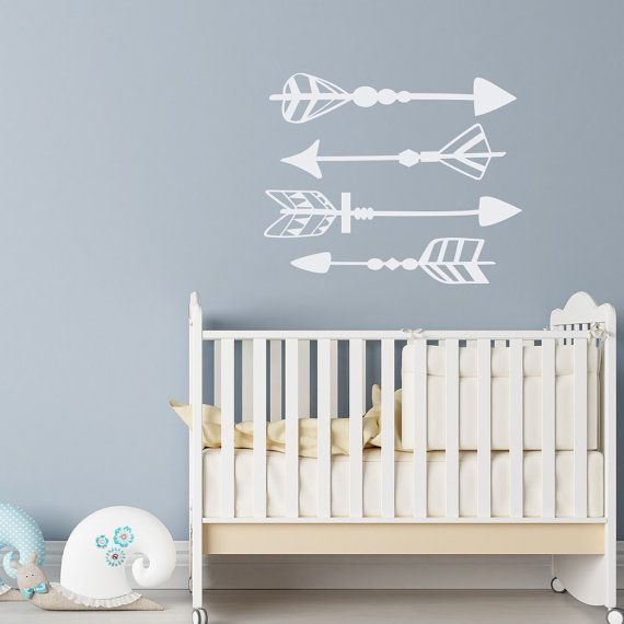 Arrow Wall Decal  Set Of 4 Arrows Vinyl Decals  Arrow Wall Art  Tribal Wall  Decal  Nursery Removable Wall Decals  Bedroom Wall Decal