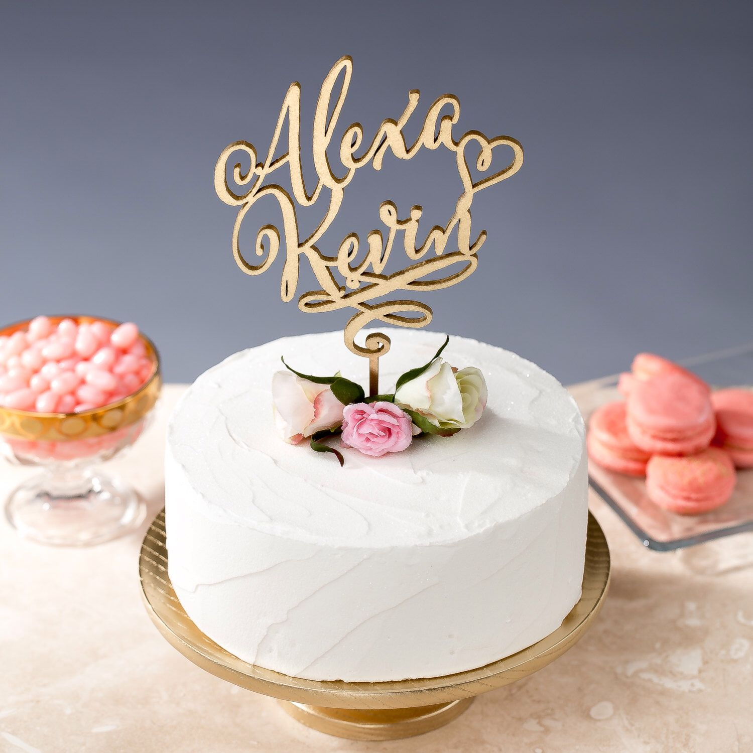 Wedding Cake Topper Custom Names Daydream Collection by