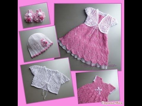 Crochet baby dress| How to crochet an easy shell stitch baby / girl's dress for beginners 105 - YouTube