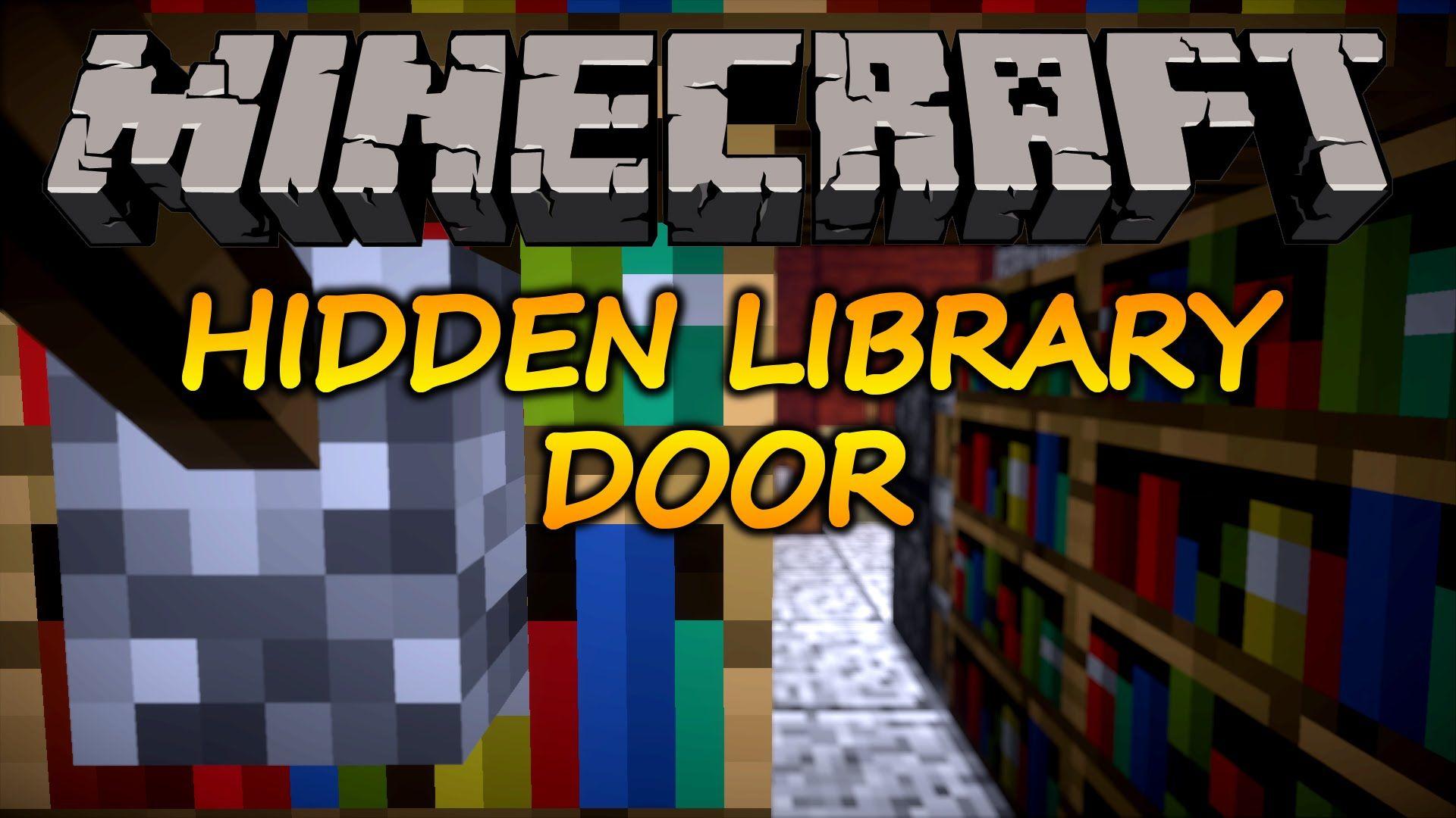 Minecraft How To Make A Hidden Bookshelf Door 1 9