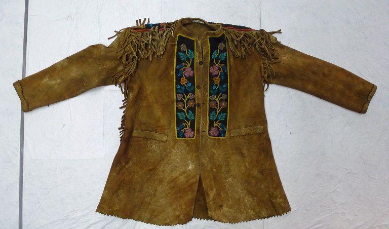 Jacket | Native American | tribe not identified | 1890 | moose hide, moose hair | Victoria & Albert Royal Museum | Museum #: T.228-1957
