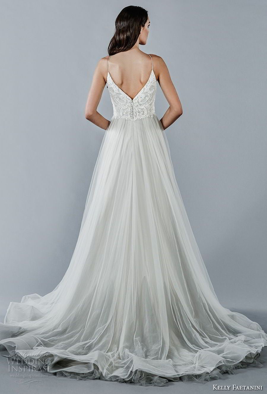 Kelly Faetanini Fall 2018 Wedding Dresses | Chapel train, Tulle ...