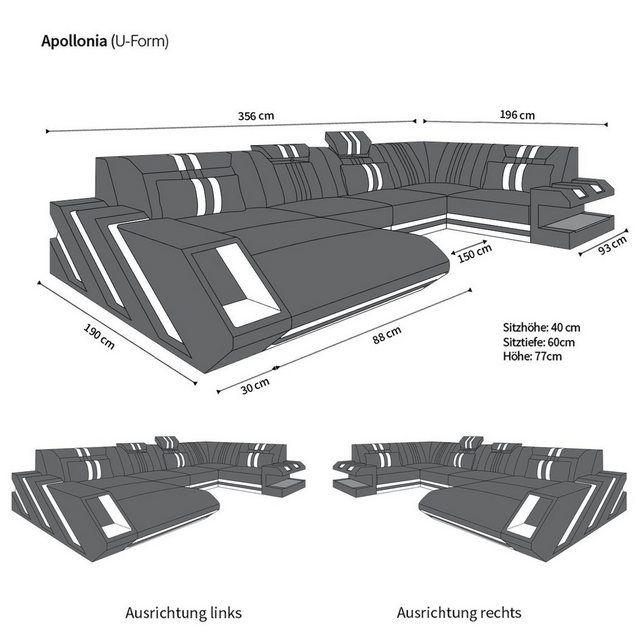 Photo of Sofa Dreams Wohnlandschaft »Apollonia«, U Form | OTTO