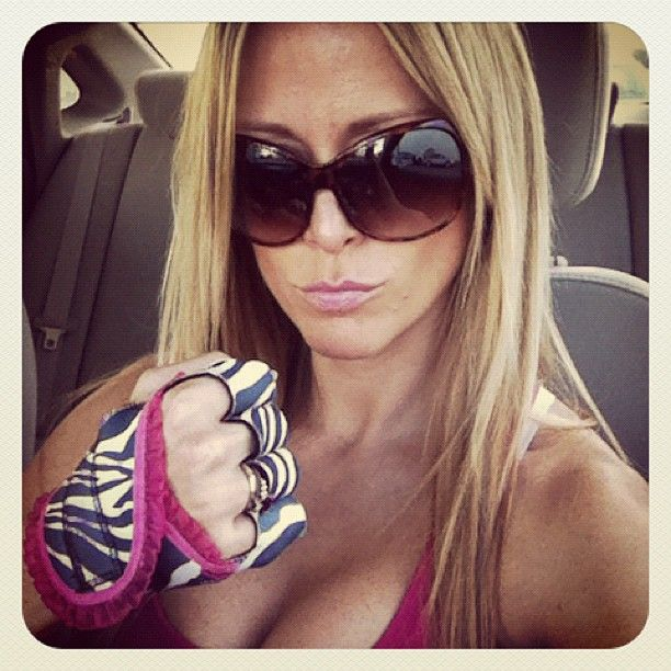 """Kyla Faye Dickerson says """"Off to take my girl Angie's BodyCombat class!"""""""