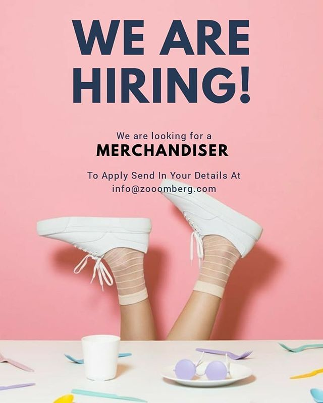 Hey! Hey! Hey! Zooomberg is on the lookout for a Merchandiser Perks