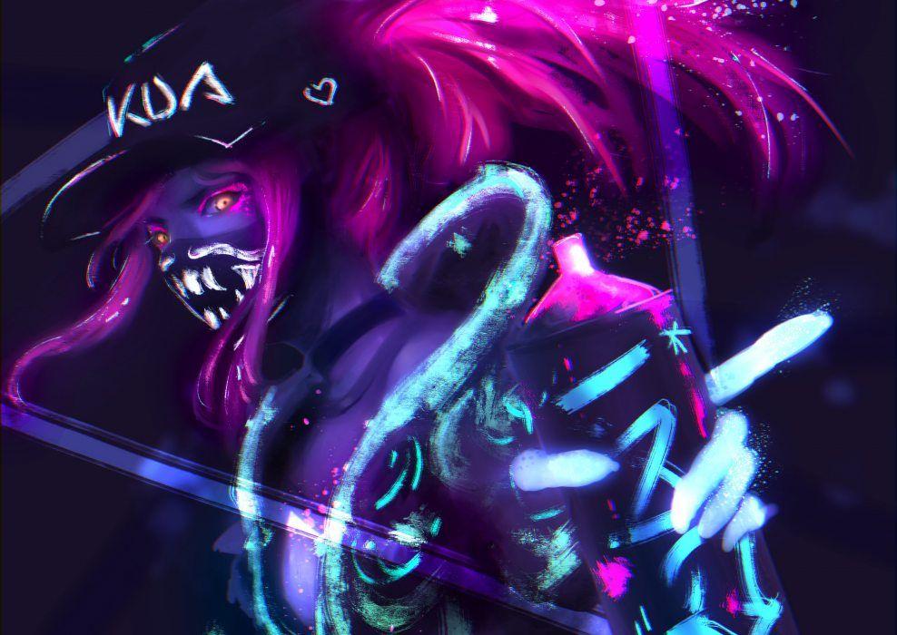K Da Akali By B1tterrabbit Hd 4k Wallpaper Background Fan Art Artwork League Of Legends Lol Diseno De Personajes Fondo De Pantalla Oso Drogas Arte