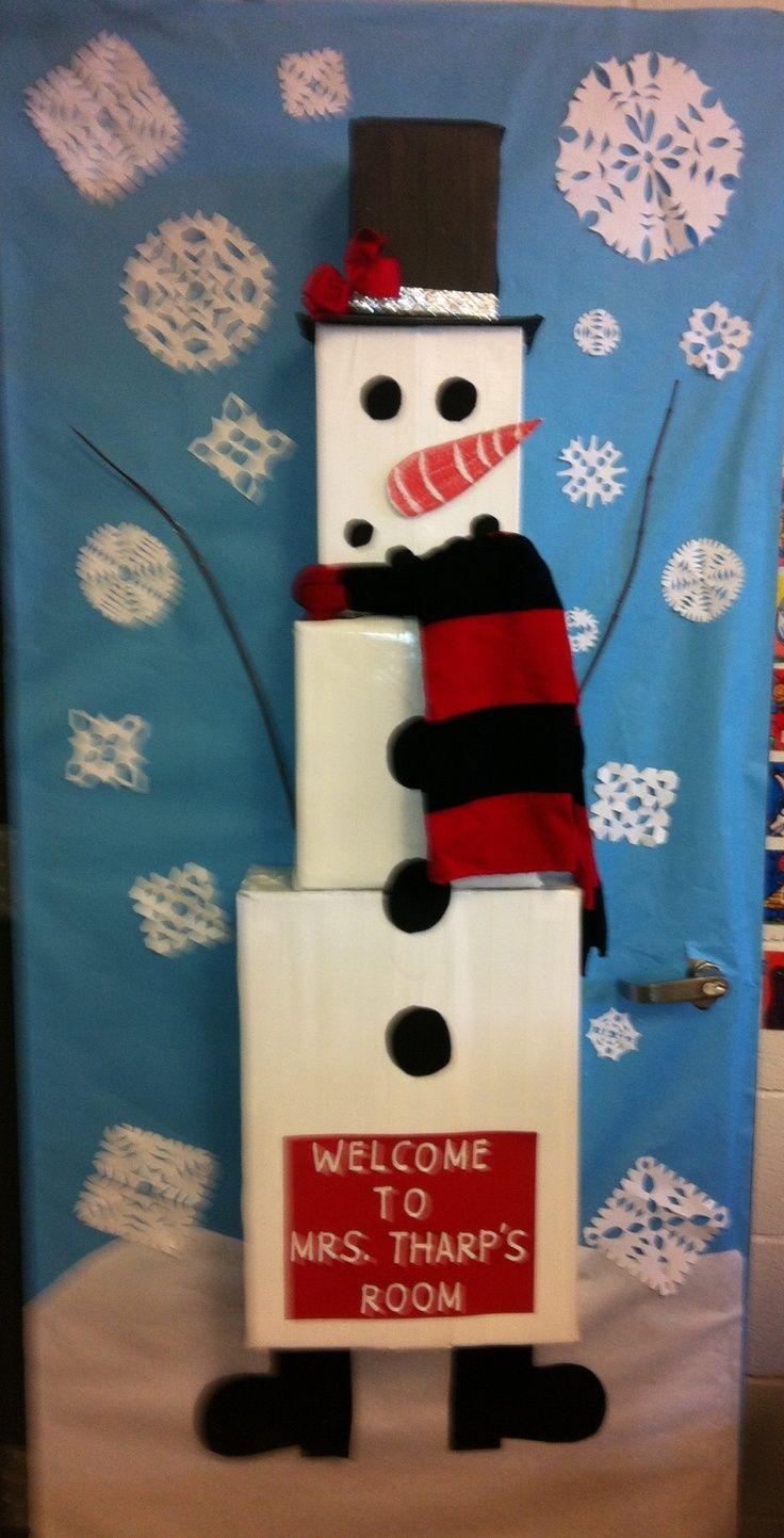 Snowman Classroom Door Decoration Ideas