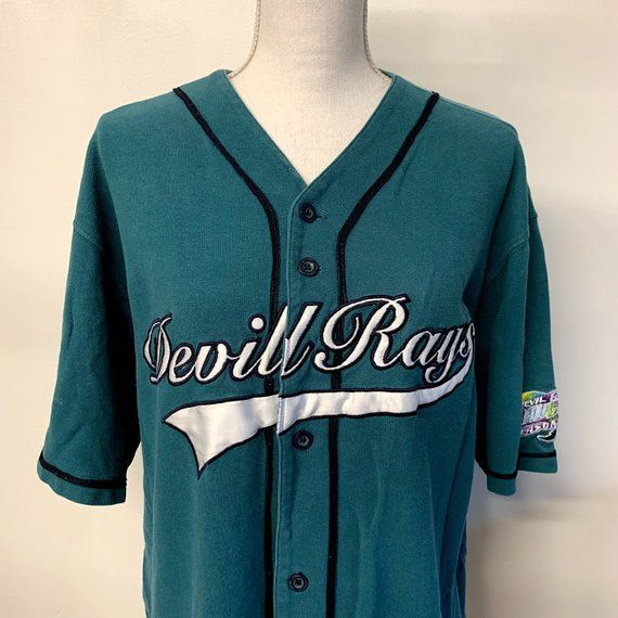 the best attitude e954d ac0fc Vintage Tampa Bay Devil Rays Inaugural Season 1998 Baseball ...