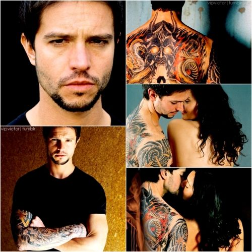 "Jason Behr graphic from ""The Tattooist"""