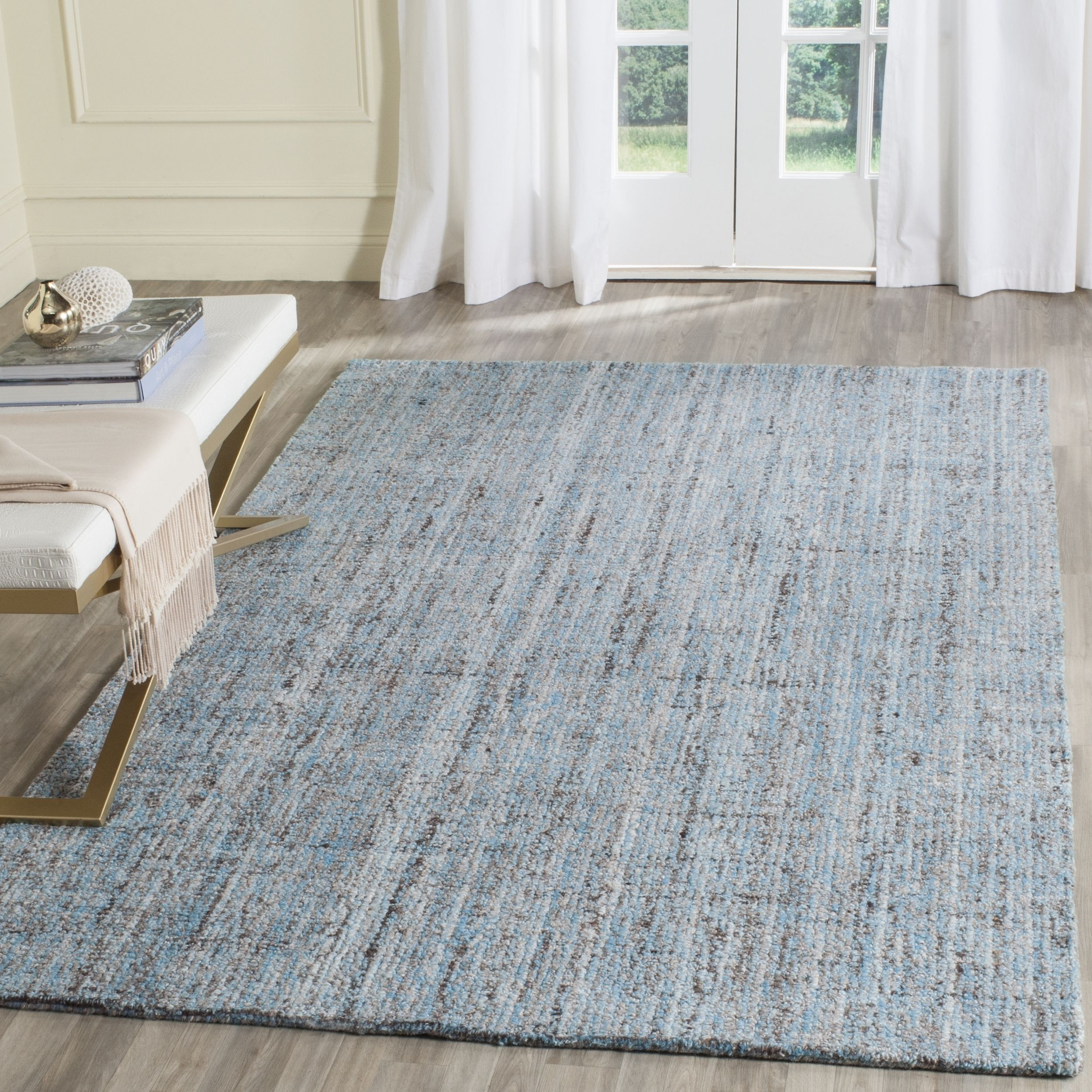 Safavieh Handmade Modern Abstract Blue Multi Rug 6 X 9 6 X 9