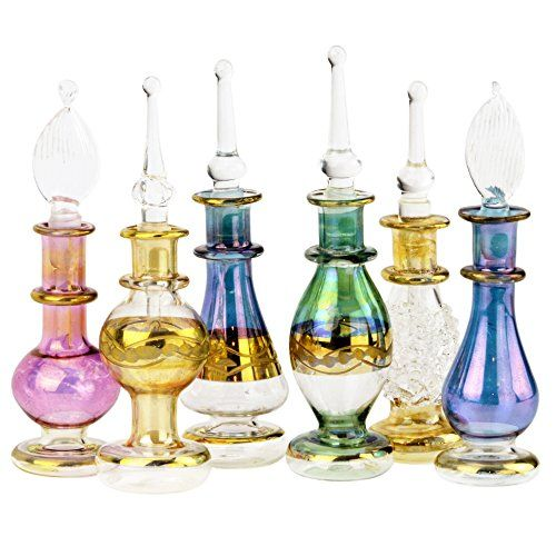 Egyptian Perfume Bottles Set Of 12 Size
