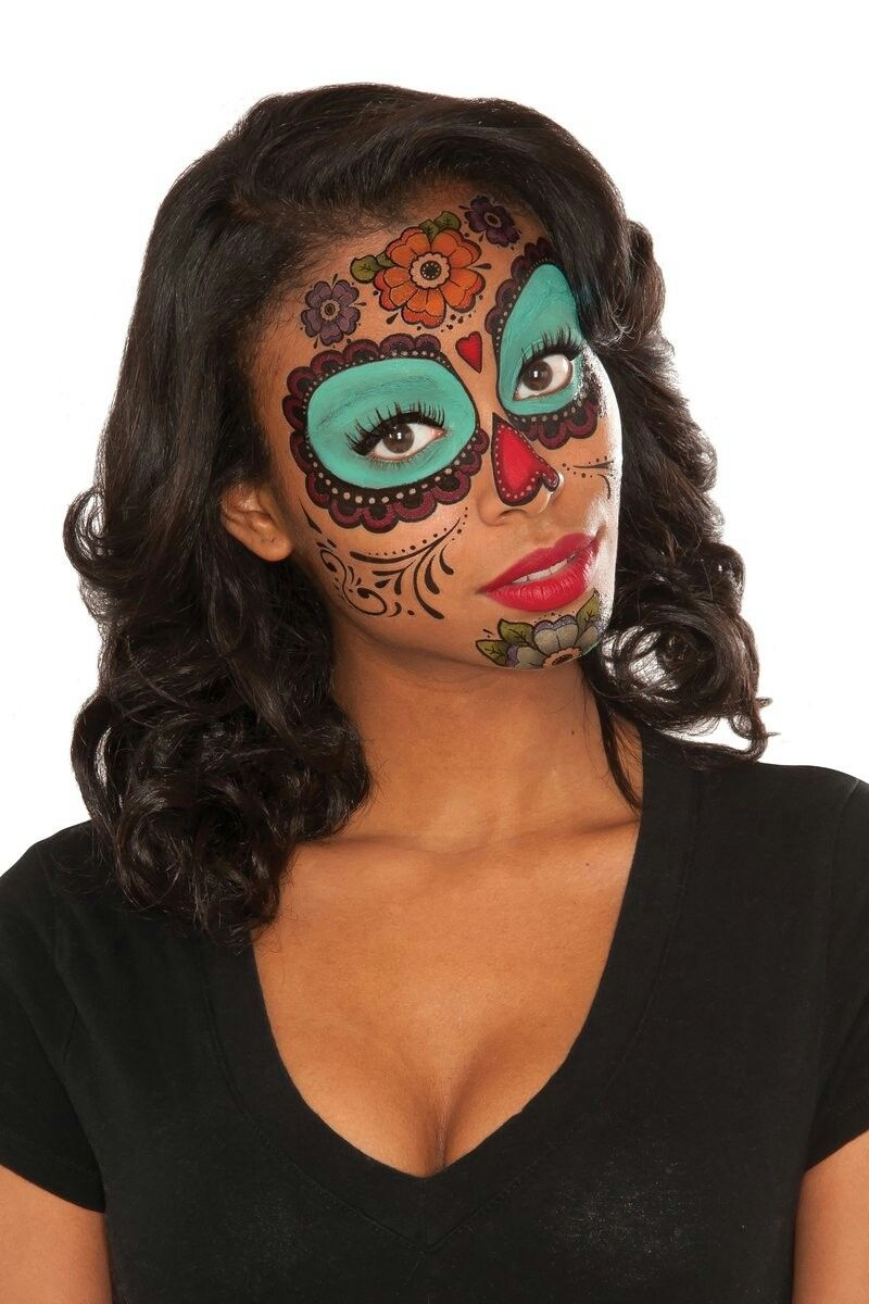 32++ Awesome Temporary face tattoos halloween image ideas