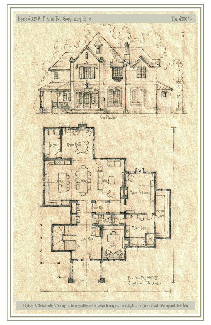 Original Design For A Larger Estate Home This Plan Is Available And Can Be Modified To Suit Vintage House Plans Storybook House Plan Architectural Floor Plans