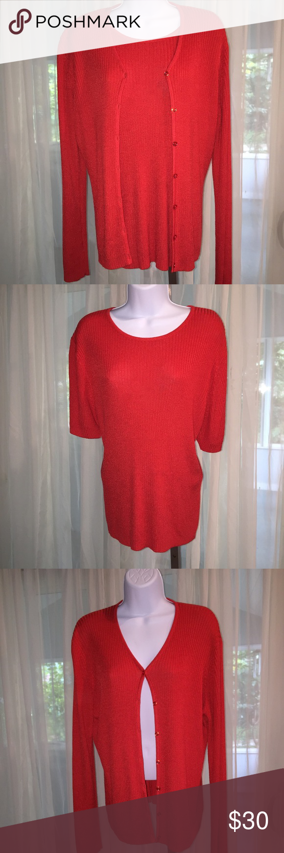 269.2. a beautiful red sweater set | Red sweaters