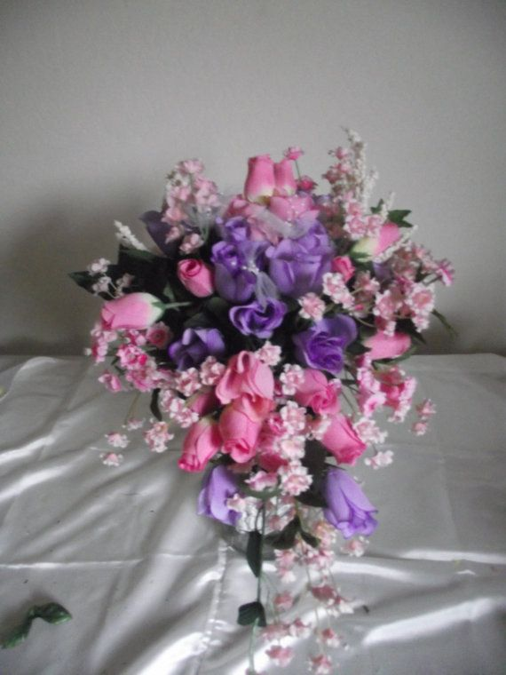 Cascade+Pink+and+Purple+and+Lavender+Rose+Bud+by+Cherylsbouquets,+$55.00