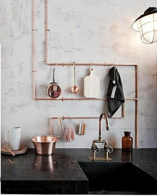 diy wohnideen metallrohr küchenideen regal wohnideen selber machen - wohnideen selbst machen