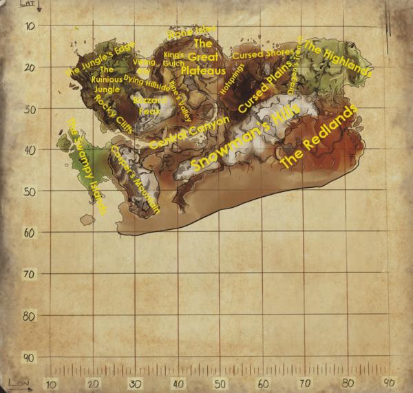 Ragnarok map | games | Ark survival evolved tips, Ragnarok map, Ark
