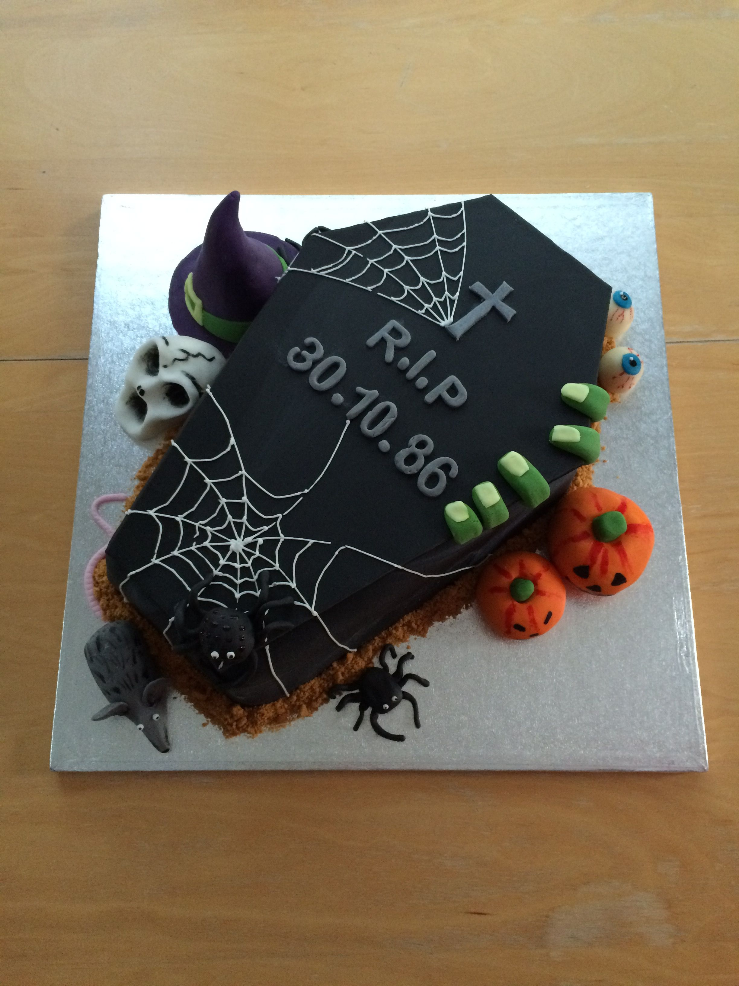 Halloween Coffin Birthday Cake Holiday Halloween Foods