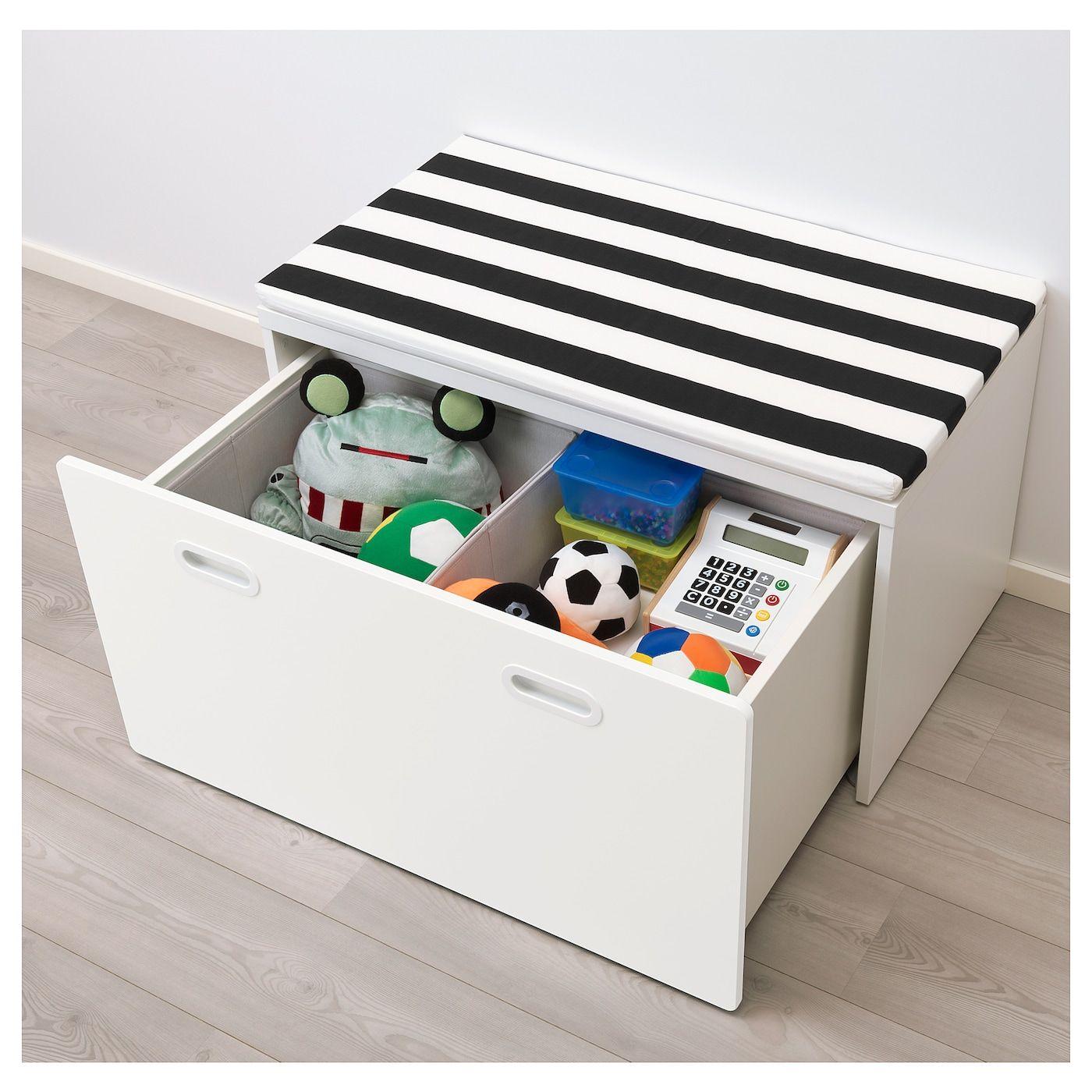 Stuva Fritids Bench With Toy Storage White White Ikea Rangement Jouet Banc De Rangement Rangement Salle De Jeux