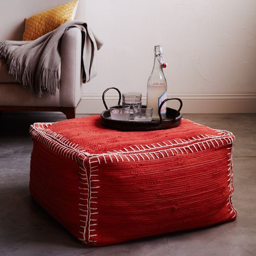 Recycled Rag Pouf | west elm