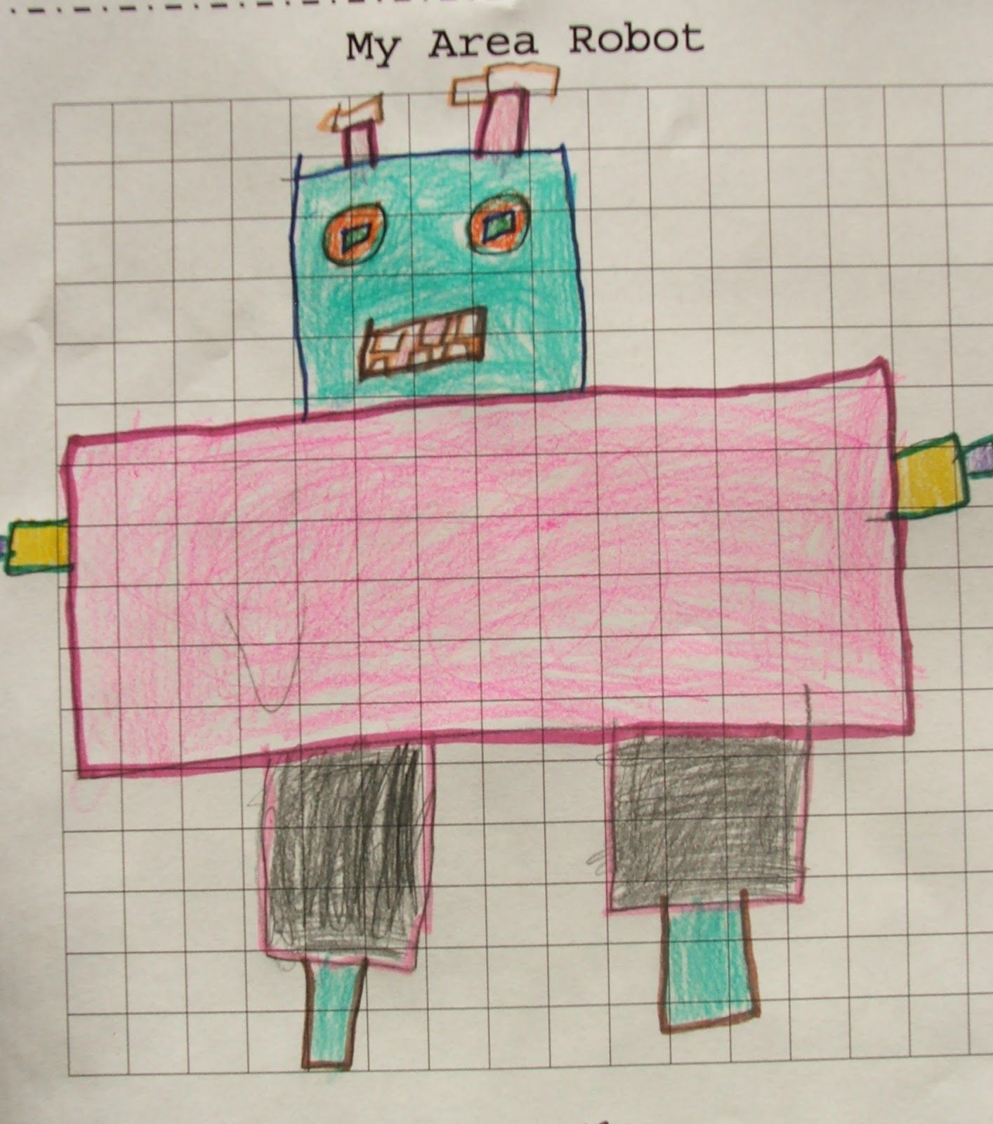 Area Robots Worksheet And Classroom Book Freebie