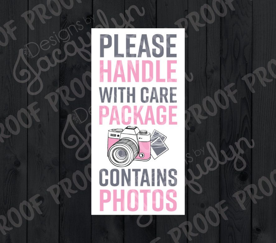 Photography Please Handle With Care Stickers for
