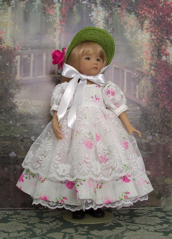 "Sweet Roses & Lace Ensemble for your Little Darling 13"" Dianna Effner"