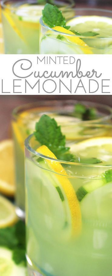 Cucumber Lemonade with Mint  Mint Infused Cucumber Lemonade is a refreshing cold all natural drink on a hot day. Sweet lemonade combines with fresh cucumber juice and muddled mint and is delicious iced! Refreshing cold sip for a hot summers day.  The post Cucumber Lemonade with Mint appeared first on Getränk.