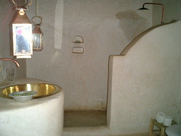 Hammam Badkamer Style : Glimmend glanzend tadelakt in de badkamer hammam style